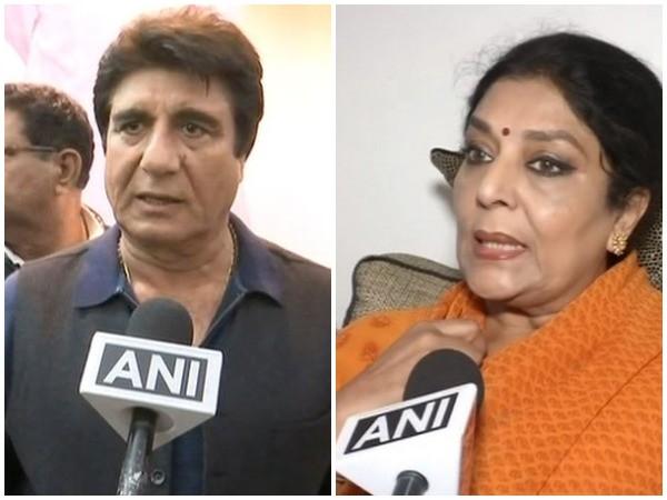 File photos of Raj Babbar (L) and Renuka Chowdhury (R)