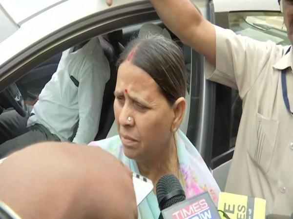 Former Bihar Chief Minister Rabri Devi speaking to media on Wednesday (Photo/ANI)