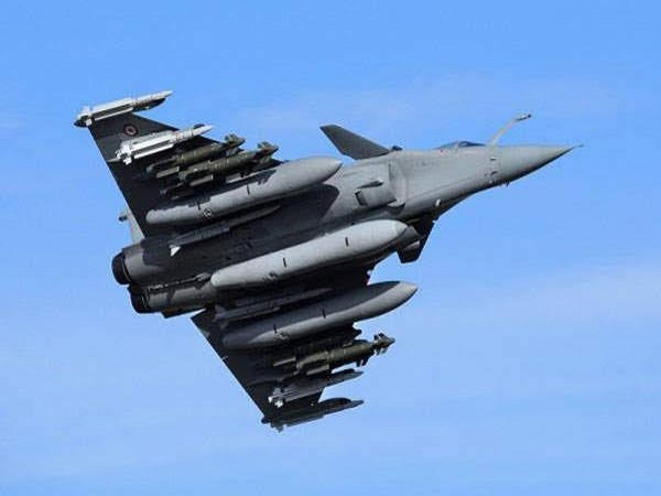 File pic of a Rafale combat aircraft fitted with a HAMMER missile.