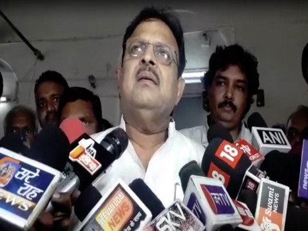 Health Minister Raghu Sharma speaking to reporters in Ajmer, Rajasthan on Friday.