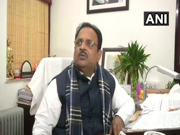 Rajasthan Health Minister Raghu Sharma speaking to reporters in Jaipur on Wednesday. Photo/ANI