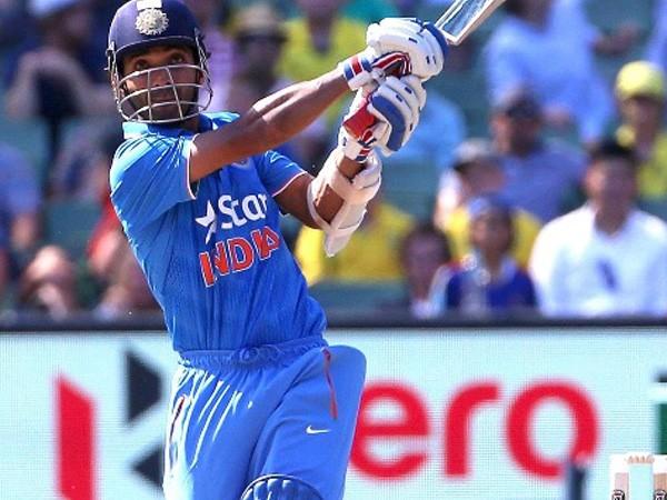 India's middle-order batsman Ajinkya Rahane