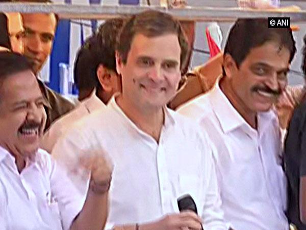 Congress president Rahul Gandhi addressing people in Malappuram, Kerala on Friday.