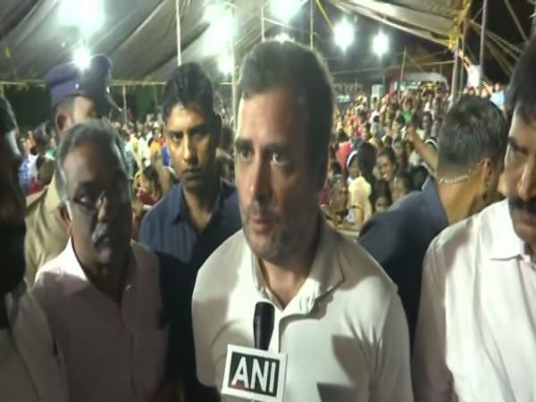 Former Congress president Rahul Gandhi talking to ANI on Tuesday. Photo/ANI