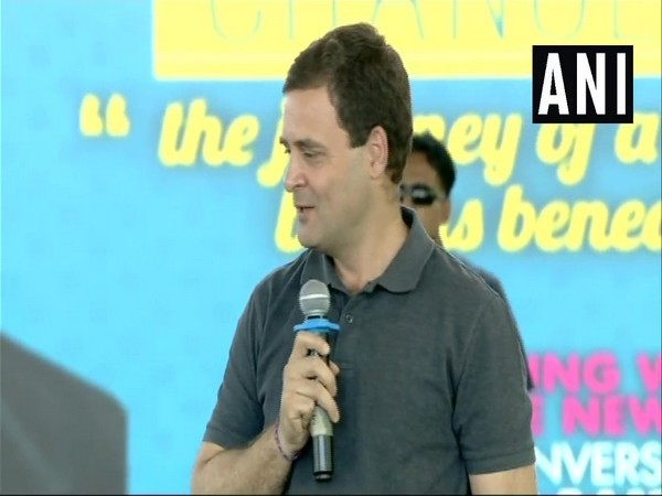 Congress president Rahul Gandhi at Stella Maris College in Chennai on Wednesday