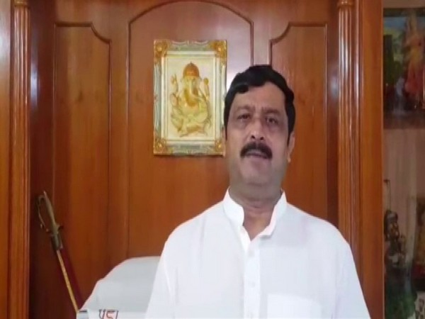 West Bengal BJP leader Rahul Sinha speaking to reporters.