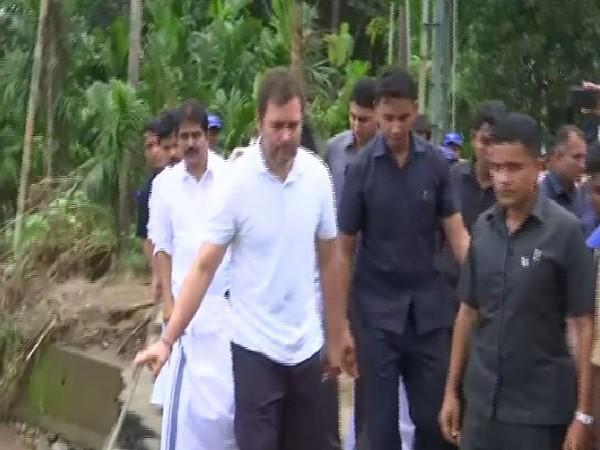 Congress MP Rahul Gandhi during his visit to Kaipini