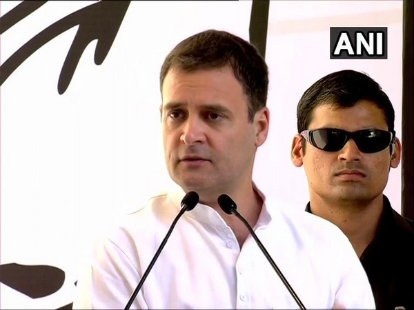 Congress president Rahul Gandhi at the launch of the party's manifesto in New Delhi on Tuesday.