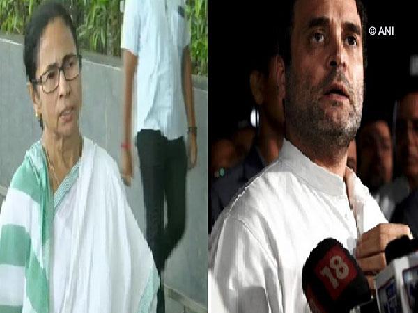 Chief Minister Mamata Banerjee and Congress Leader Rahul Gandhi File/Photo