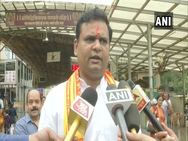 BJP Colaba candidate Rahul Narvekar speaks to media in Mumbai on Thursday [Photo/ANI]