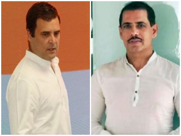 Congress president Rahul Gandhi and businessman Robert Vadra (File photo)