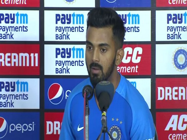 KL Rahul addressing a post-match conference in Hyderabad on Friday.