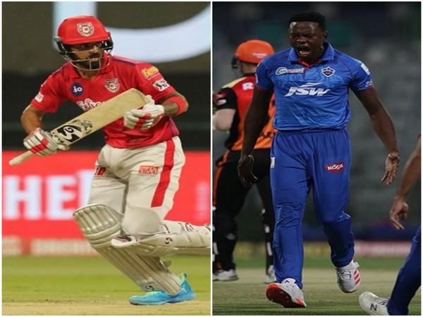 KXIP skipper KL Rahul and Delhi Capitals pacer Kagiso Rabada  (Image: BCCI/IPL)