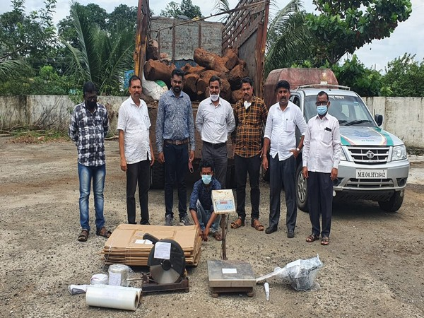Raigad Police today recovered 3,750 kg red sandalwood