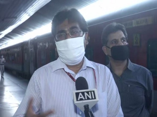 Railway Board Chairman Vinod Kumar Yadav speaking to ANI in New Delhi on Tuesday. Photo/ANI