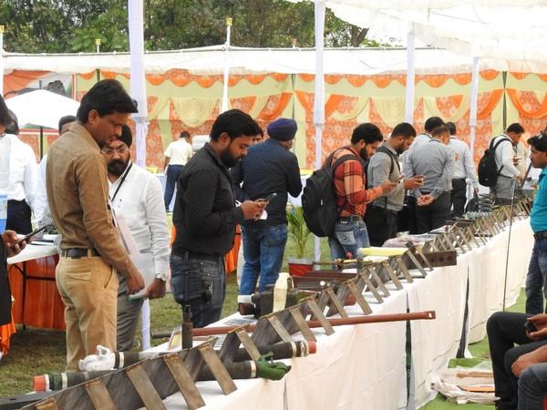 Exhibition held in vender meet in Raipur on Wednesday Photo/ANI