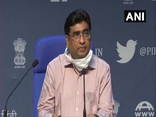 Railway Board Chairman Vinod Kumar Yadav addressing a press conference in New Delhi on Saturday. Photo/ANI
