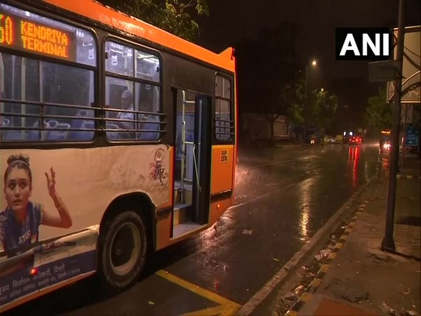 Rains hit the national capital on Friday evening. Photo/ANI