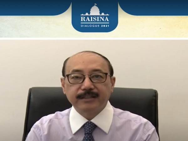 Foreign Secretary Harsh Vardhan Shringla delivering his remarks at the conclusion of the 6th edition of Raisina Dialogue.