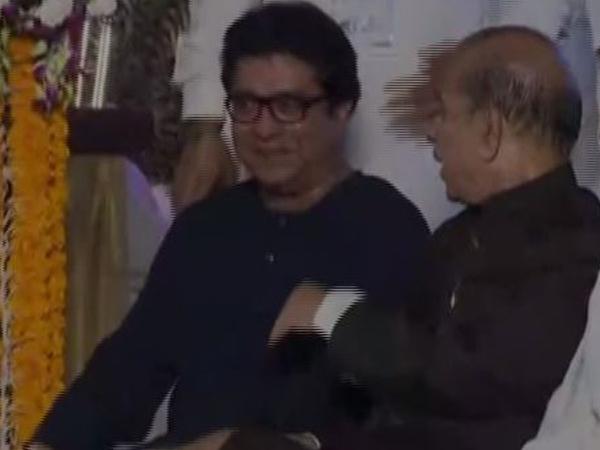MNS leader Raj Thackeray at the swearing ceremony in Mumbai on Thursday. Photo/ANI