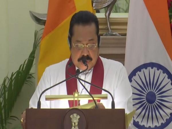 Sri Lanka Prime Minister Mahinda Rajapaksa speaking at a joint press briefing in New Delhi on Saturday. Photo/ANI