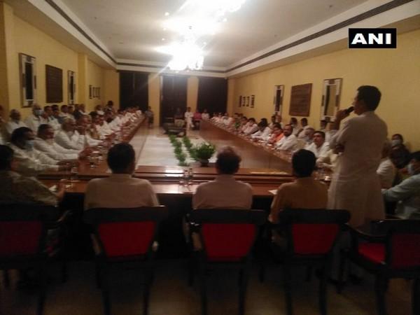 Visuals from the CLP meeting underway at Suryagarh hotel in Jaisalmer. Photo/ANI