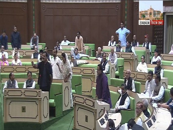 A view of the Rajasthan Assembly on Friday. Photo/ANI