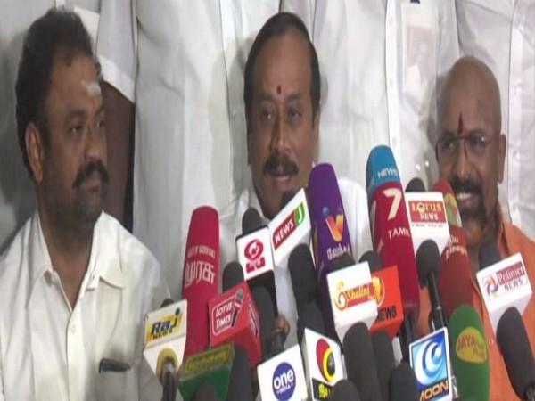 BJP national secretary H Raja addressing a press conference in Madurai, Tamil Nadu. Photo/ANI