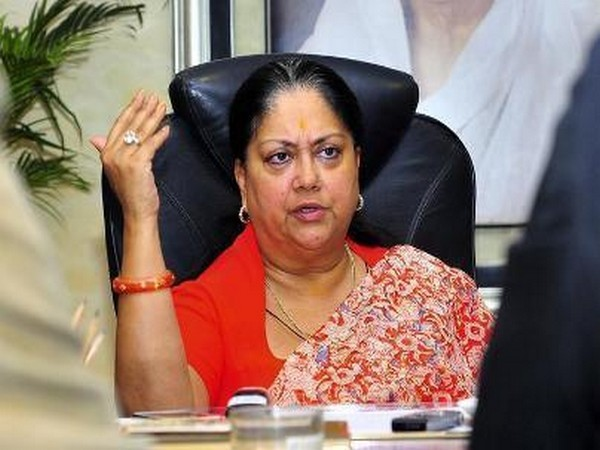 Former Rajasthan Chief Minister and BJP leader Vasundhara Raje (File photo)