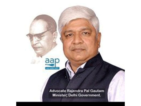 Minister of Social Welfare in the Delhi government, Rajendra Pal Gautam.