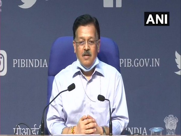 Rajesh Bhushan, OSD, Ministry of Health speaking at the press briefing on Tuesday. Photo/ANI