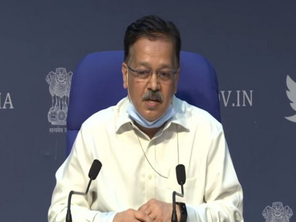 Rajesh Bhushan, Secretary, Health Ministry speaking during press conference in New Delhi on Tuesday. Photo/ANI