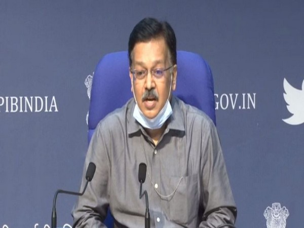 Rajesh Bhushan, Secretary, Union Health Ministry speaking during press conference in Delhi on Tuesday. Photo/ANI
