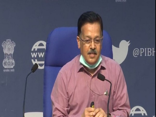 Rajesh Bhushan, Officer on Special Duty, Ministry of Health speaking during press conference in New Delhi on Thursday. (Photo/ANI)