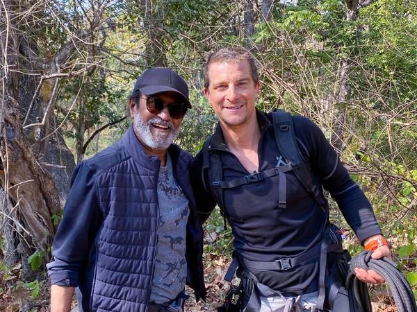Superstar Rajinikanth with British adventurer Bear Grylls.