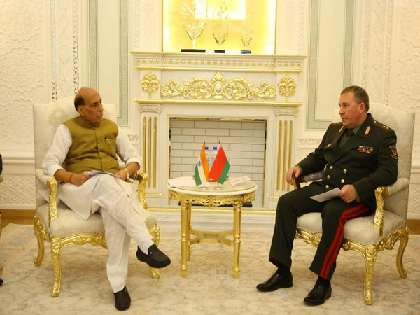 Defence Minister Rajnath Singh on Wednesday met with his Belarusian counterpart Lieutenant General Viktor Khrenin.