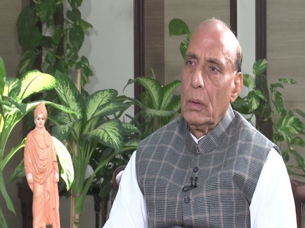 Defence Minister Rajnath Singh speaking to ANI on Tuesday in New Delhi [Photo/ANI]