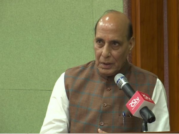 Defence Minister Rajnath Singh speaking during a book launch in New Delhi on Tuesday. (Photo/ANI)