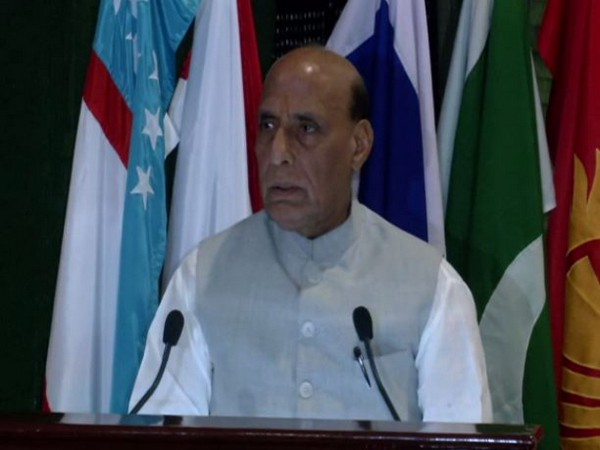 Defence Minister Rajnath Singh during his address on Thursday. Photo/ANI