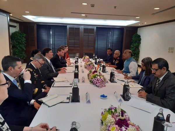 Defence Minister Rajnath Singh and US Secretary of Defence Mark Esper held a bilateral meeting in Bangkok today