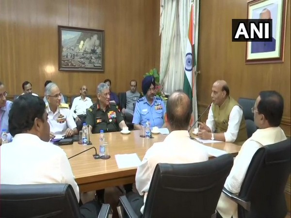 Visuals from the Defence Ministry in New Delhi.
