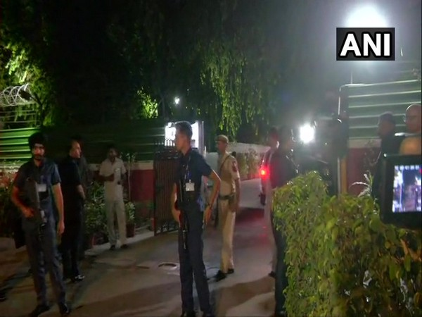 Visuals from outside the residence of Rajnath Singh.