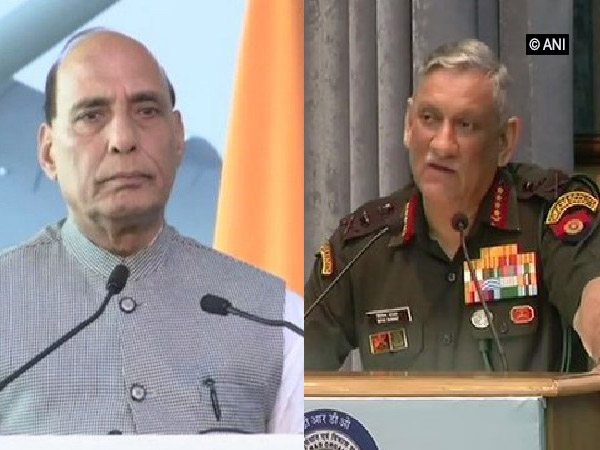 Defence Minister Rajnath Singh (left) and Army Chief General Bipin Rawat (right)