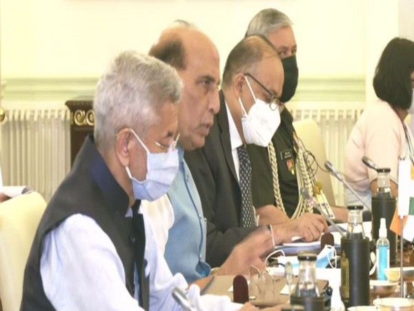 Defence Minister Rajnath Singh speaking at India-Australia 2+2 ministerial dialogues. (ANI)