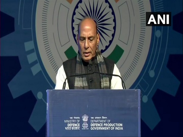 Union Defence Minister Rajnath Singh at DefExpo 2020 in Lucknow