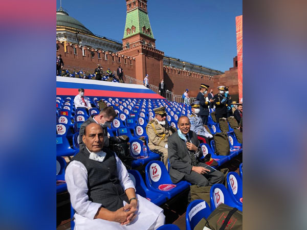 Rajnath Singh at the Victory Day Parade. (Photo credit: official twitter)