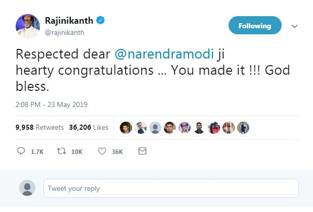 LS results: Scores of celebrities wish PM Modi and BJP party