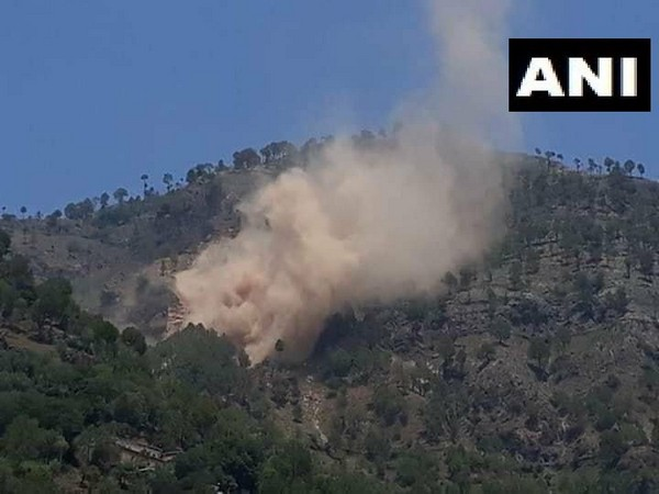 A Pakistani post opposite Rajouri sector was hit in action by Indian Army on Saturday. Photo/ANI