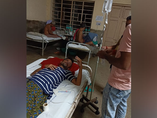Complainant Raju admitted in a government hospital for medical aid. Photo/ANI