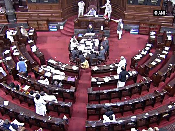 Visuals from Rajya Sabha (Photo courtesy: RSTV)